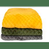 Fleece woonplaid 200x220cm