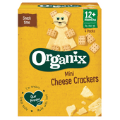Organix Mini cheese cramers 12+ maanden 4 st.