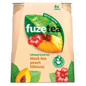 Fuze tea Ice tea perzik hibiscus 4 x 250 ml