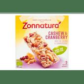 Zonnatura Notenreep cashew-cranberry 3 stuks