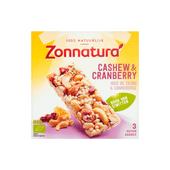 Zonnatura Biologische notenreep cashew-cranberry 3 stuks