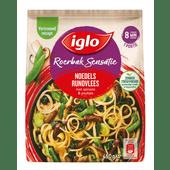 Iglo Roerbaksensatie noodles rundvlees