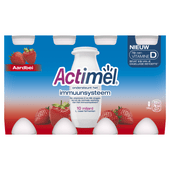 Danone Actimel drinkyoghurt aardbei 8 x 100 ml