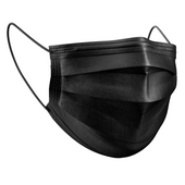Mondneusmaskers zwart 50 stuks