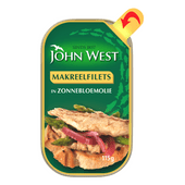 John West Makreelfilets in zonnebloemolie