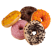 Donuts diverse toppings