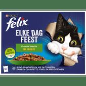 Felix Kattenvoer elke dag feest met groente in gelei 12 stuks
