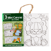 Canvas kinderschilderset 3-luik