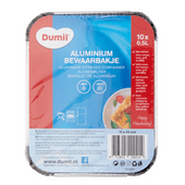 Dumil Aluminium bakjes 0.5 liter