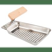 BBQ pan afmeting 17,7 x 11 cm.