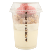 Yoghurt aardbei en muesli