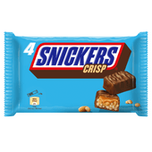 Snickers Reep crisp 4 stuks