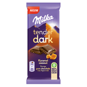 Milka Chocoladereep tender dark karamel zeezout
