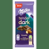 Milka Chocoladereep tender dark amandel