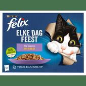 Felix Kattenvoer elke dag feest mix 12 stuks