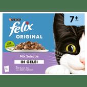 Felix Pouch senior nat chunks in jelly 12 stuks