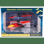 Helicopter met handsensor