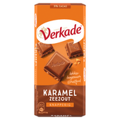 Verkade Chocoladereep karamel-zeezout