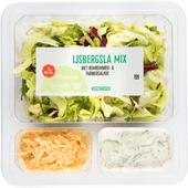 1 de Beste Groene salade ijsbergsla mix komkommer & farmersalade