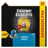 Douwe Egberts Koffiecups lungo decaf sterkte 6