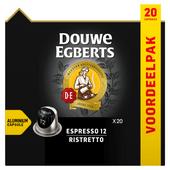 Douwe Egberts Koffiecups espresso 12 ristretto