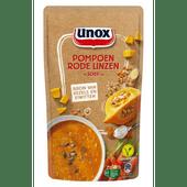 Unox Soep in zak pompoen met linzen