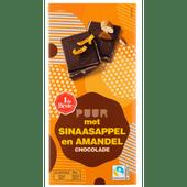 1 de Beste Chocoladereep puur sinaasappel amandel
