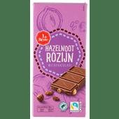 1 de Beste Chocoladereep hazelnoot rozijn melk