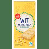 1 de Beste Chocoladereep wit met rijstcrisp