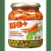 Bio+ Doperwten en wortelen extra fijn