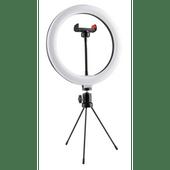 Selfie ringlamp op statief