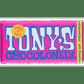 Tony's Wit framboos knettsersuiker chocoladereep