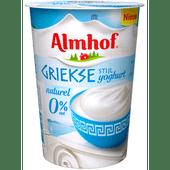 Almhof Griekse stijl yoghurt 0% naturel