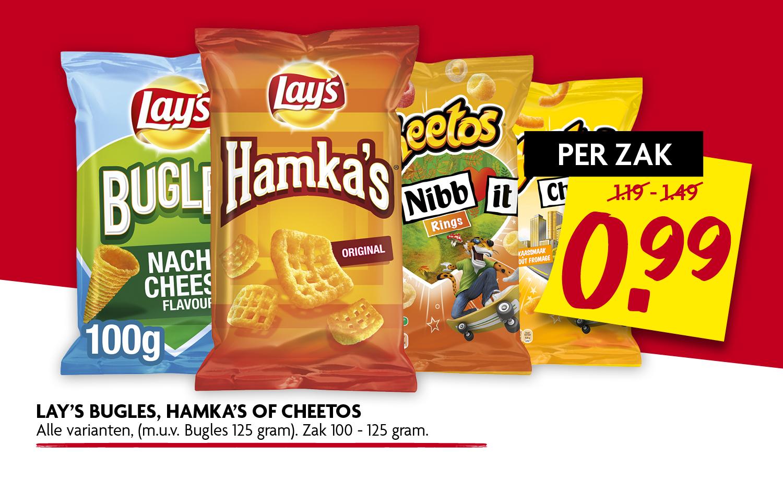 Lays bugles Hamkas of Cheetos