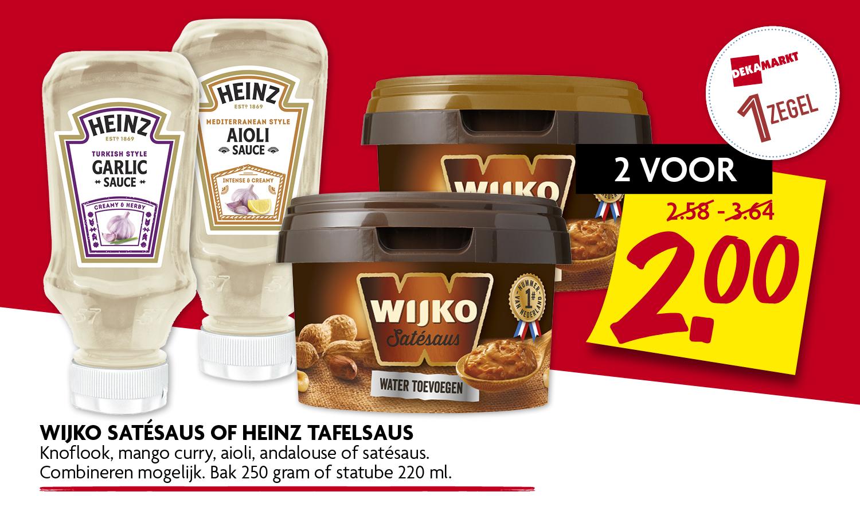 Wijko satesaus of Heinz tafelsaus