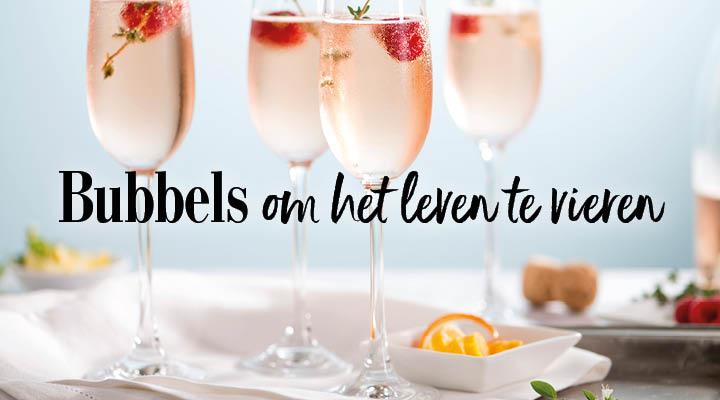 Bubbels om het leven te vieren
