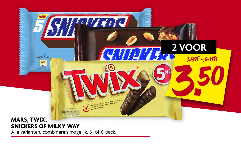 Mars Twix Snickers of Milky Way