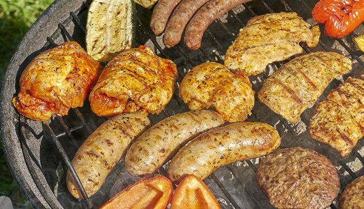 Lekker vlees vis kip voor op de bbq
