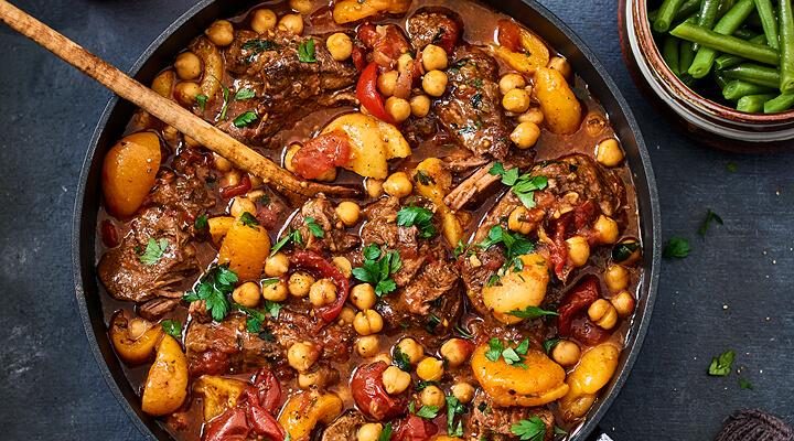Marokkaanse stoofpot met abrikozen