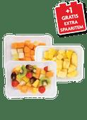 1 de Beste meloenmix, fruitsalade, ananas stukjes of watermeloen stukjes