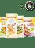 Zonnatura thee, crunchrepen of rijstwafels