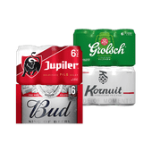 Grolsch, Bud, Jupiler of Kornuit pilsener of 0.0