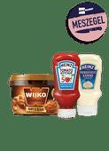Wijko Satésaus kant & klaar of Heinz Ketchup of Mayonaise