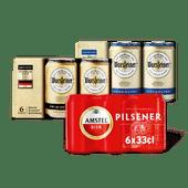 Amstel of Warsteiner pilsener of 0.0%