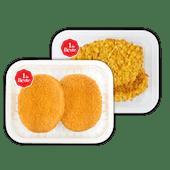 Kipburgers of kipkrokantschnitzels