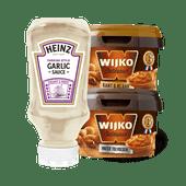 Wijko satésaus en Heinz tafelsaus