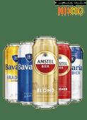 Amstel of Bavaria pilsener, 0.0, Radler of Blond