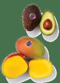Eetrijpe avocado's of mango's