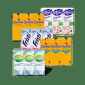Chocomel, Fristi, Optimel of Campina Langlekker minipakjes