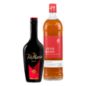 Tia Maria of John Barr blended Scotch whisky finest blend